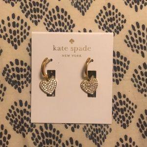 Kate spade heart earrings